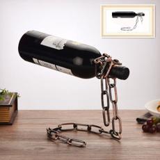 Home Decor, Chain, Shelf, winebottleholde