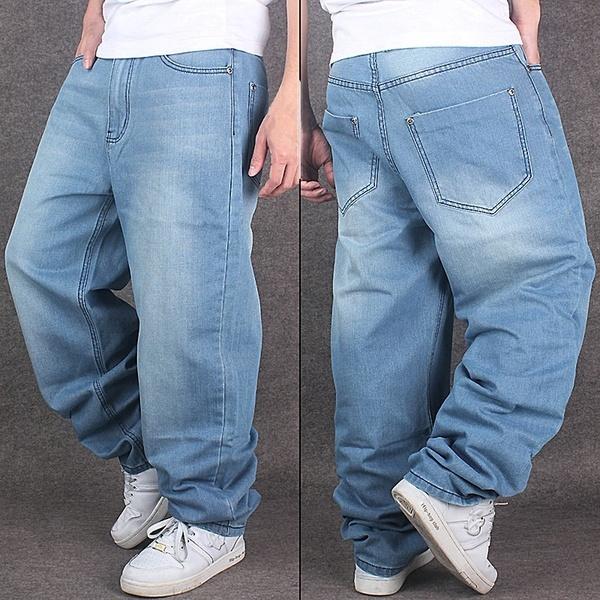 Blues, Plus Size, men trousers, pants
