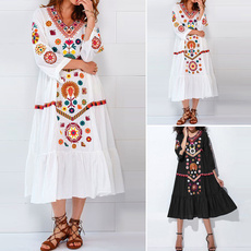 bohemia, Summer, Fashion, floralprintdres