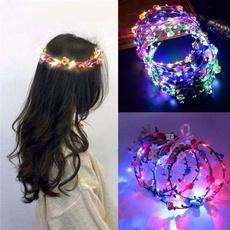 wreathled, led, ledheadwear, lights