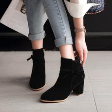 ankle boots, ladiesblockheelboot, High Heel Shoe, Winter