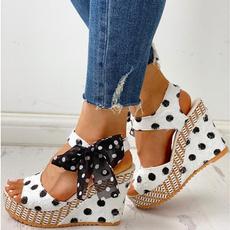 slope, wedge, Waterproof, summer shoes