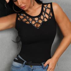 Summer, blouse women, Necks, Tops