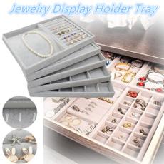 velvet, Jewelry, Jewelry Organizer, storage boxes