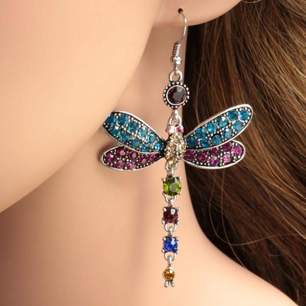 gorgeousearring, dragon fly, DIAMOND, Jewelry