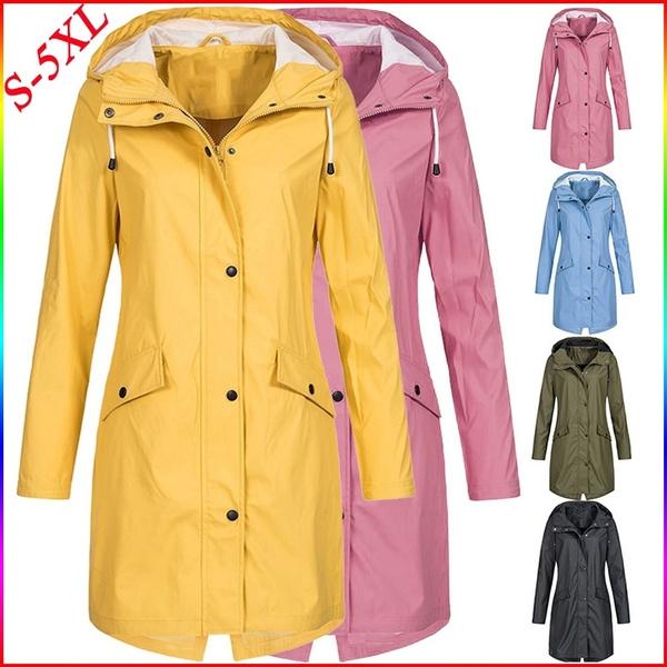 Plus Size, outdoorraincoat, Waterproof, Coat