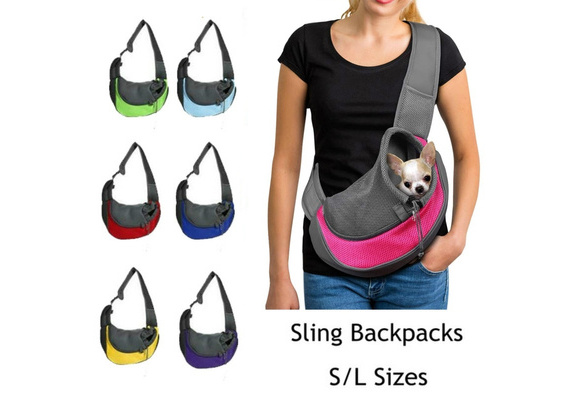Puppy Outdoor Travel Small Tote Dog Cat Hands Free Carrier Reversible Sling Bag