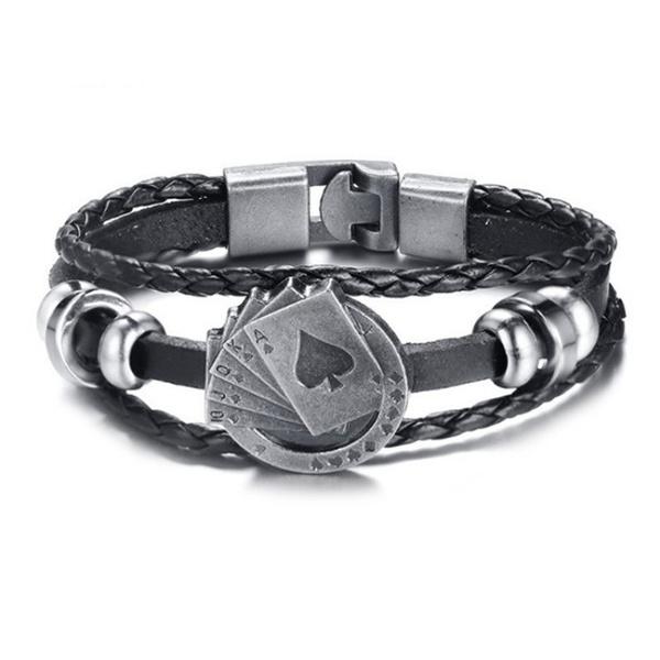 Charm Bracelet, Poker, Men, Jewelry