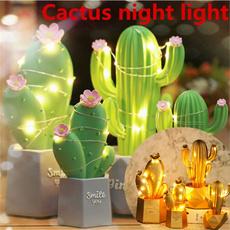 Star, cactusnightlight, Night Light, Gifts