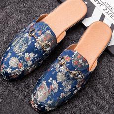 mensdressshoe, casual shoes, backlessloafer, mensfabricslipon