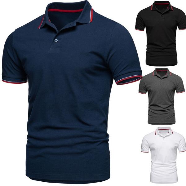 Turn-down Collar, topsamptshirt, Cotton Shirt, Polo Shirts
