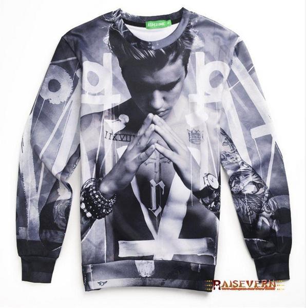 3D hoodies, Fashion, Justin, men3dprintpullover
