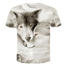 Short Sleeve T-Shirt, Men's Fashion, Animal, Personality