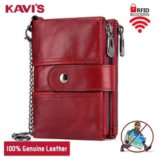 Mini, Chain, Wallet, genuine leather