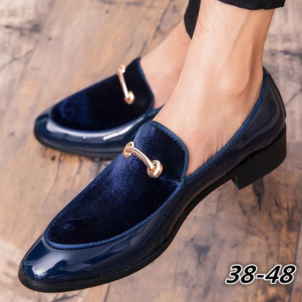 Men's Horsebit Loafers Mens Navy Blue