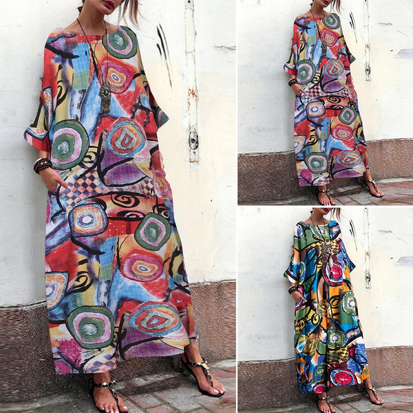 Bat, womenroundneckdres, Sleeve, plus size dress