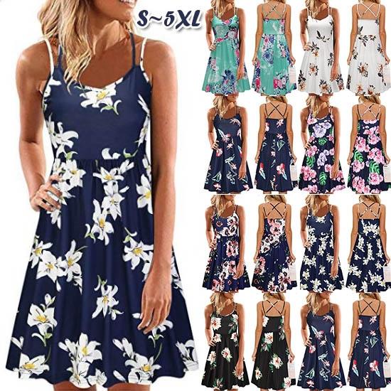 Summer, Spaghetti Strap, short dress, Mini