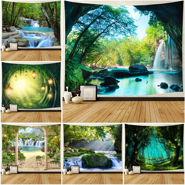 Beautiful, waterfalltapestry, Decor, Wall Art