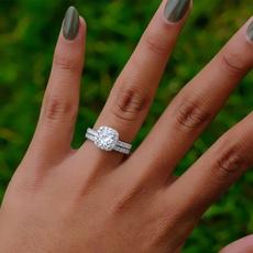 Sterling, DIAMOND, Women Ring, Romantic