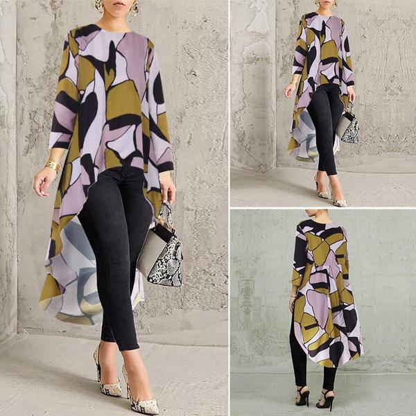 blouse, Women, Plus Size, longtop