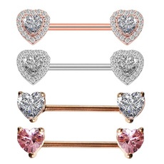 Steel, nipplepiercing, Bar, Jewelry