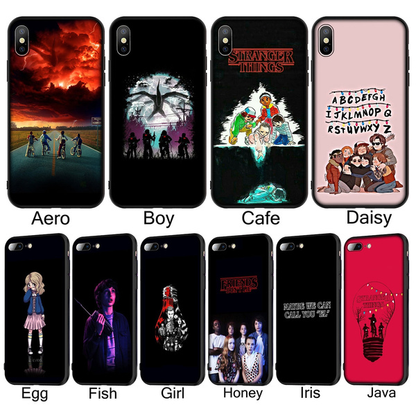 T158 Stranger Things Soft Silicone Phone Case for iPhone XR X XS Max 6 6S 7 8 Plus 5 5S SE Black Cover for Huawei P30 P20 Pro Lite TPU Cases for ...