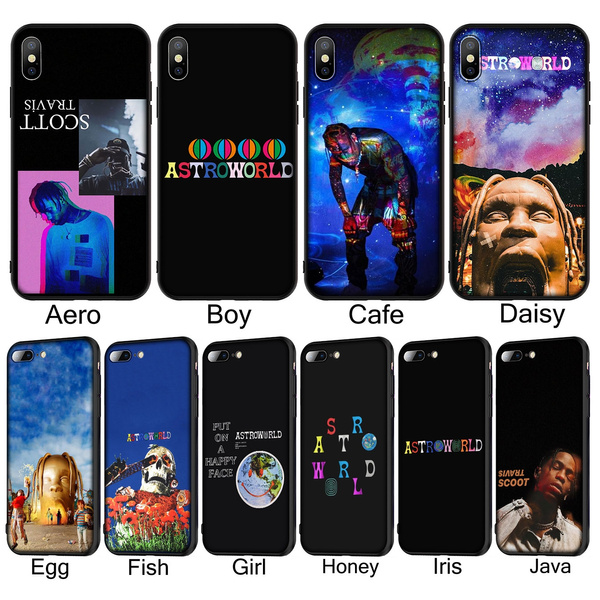 T172 travis scott astroworld Soft Silicone Phone Case for iPhone XR X XS Max 6 6S 7 8 Plus 5 5S SE Black Cover for Huawei P30 P20 Pro Lite TPU Cases ...