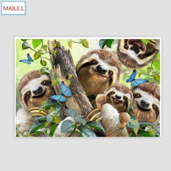 crossstitch, sloth, 5ddiamondembroidery, DIAMOND