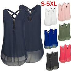 Women Vest, Vest, Fashion, chiffon