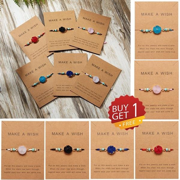 messagecard, Jewelry, adjustablebracelet, wovenbracelet
