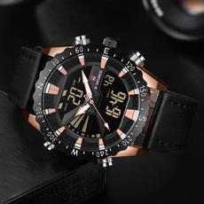Men Business Watch, leather strap, quartzwatchmen, Leather Strap Watches