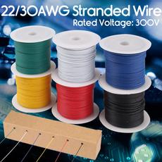 Blues, 22awghookupwire, flexiblesiliconewire, hookupstrandedwire