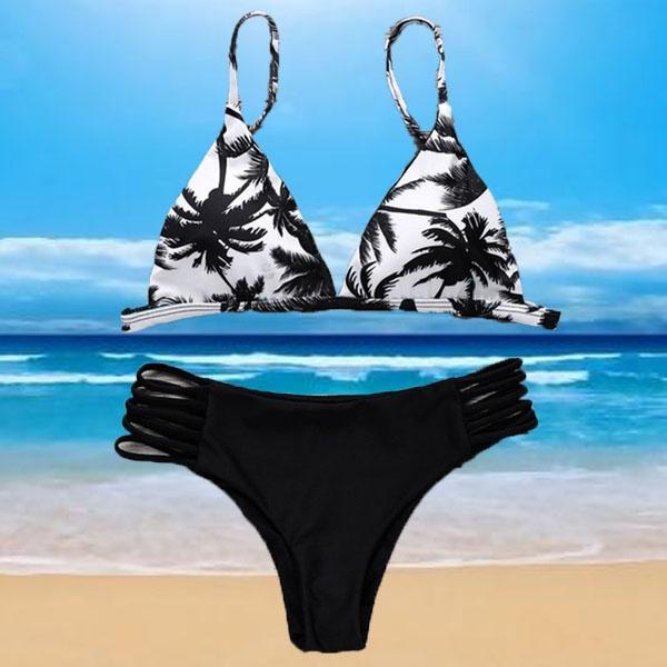 bathing suit, bandage swimsuit, Fashion, leaf