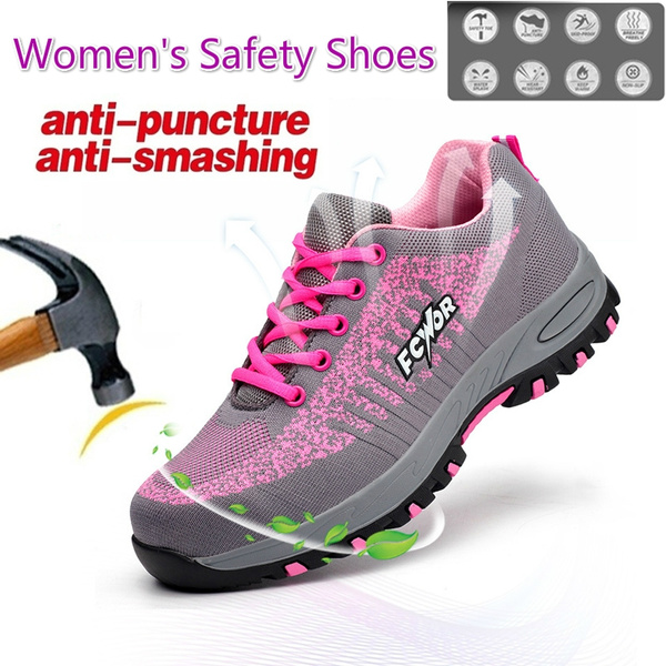 Shoes Female Work Boots with Steel Toe