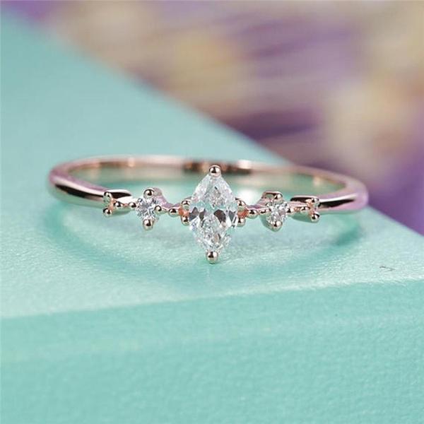 DIAMOND, Jewelry, 925 silver rings, gold