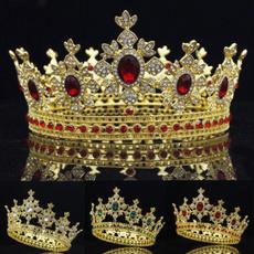 King, hairtiara, hair jewelry, Colorful
