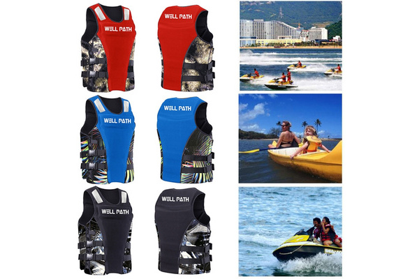 Wuloopesoy Adult Life Jacket for Women Men Swimming Equipment Aid Jacket Vest Buoyancy Fishing Boating Vest