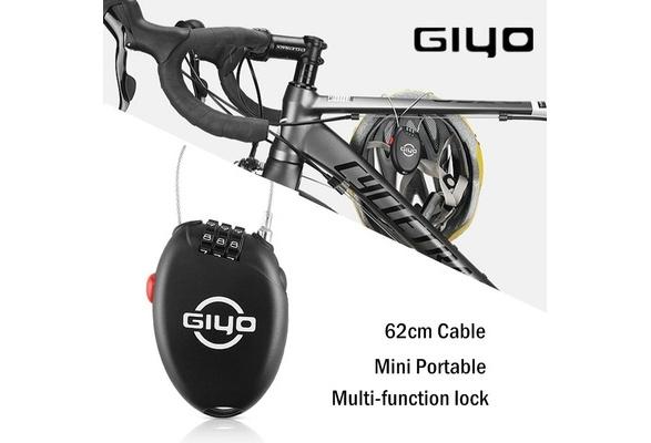 1 x GIYO 3 Digit Password Bike Lock Multi Function Mini Cable Bicycle Anti Theft