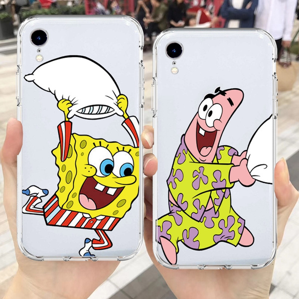 Spongebob Patrick Best Friends Transparent Case For Samsung Galaxy S10 S9 S8 Plus S10e Note 8 9 Capa J4 J8 A7 A8 A6 Plus 2018 A50 M20 M30 Phone Case ...