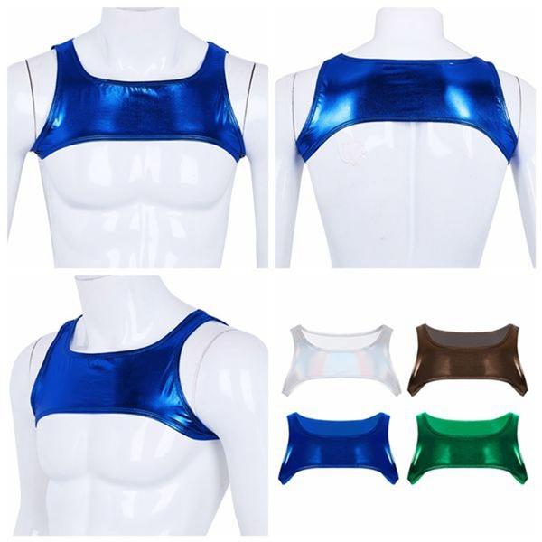 Harness, musclecroptop, Vest, shinymetallic