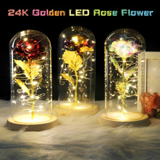 Beautiful, golden, Flowers, led
