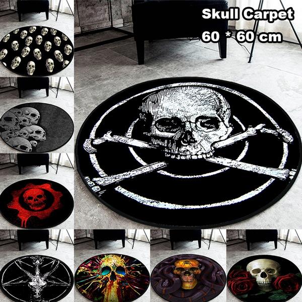 doormat, livingroommat, skull, Yoga Mat