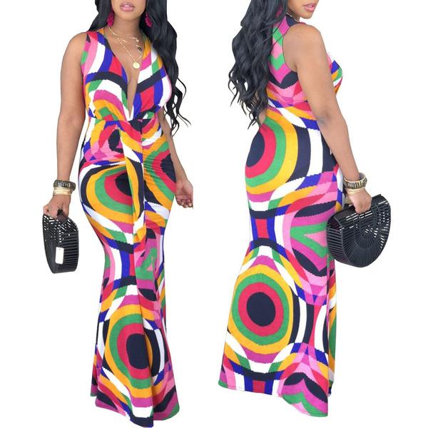 colorfulldres, printeddres, Summer, long dress