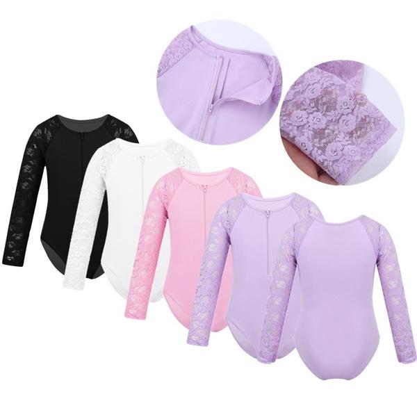 laceleotard, Lace, roundneckbodysuit, Long Sleeve