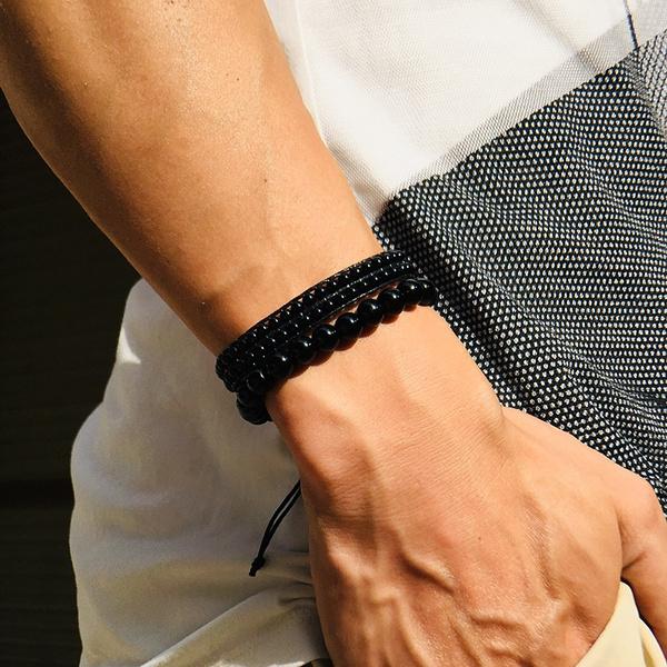 black bracelet, Bracelet, Fashion, Wristbands