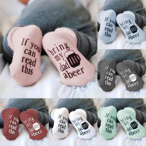 cute, Cotton Socks, babysock, letter print