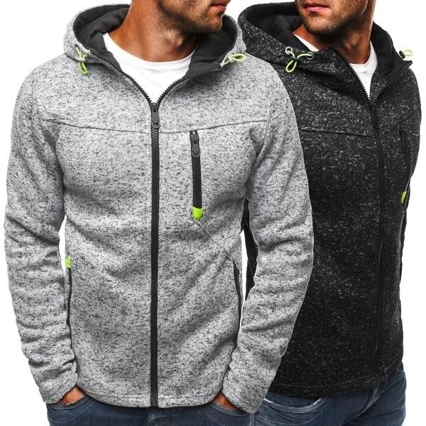 Plus Size, Men's Hoodies & Sweatshirts, hooded, Coat