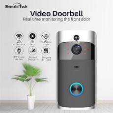 Gray, doorbell, doorbellwithsecuritycamera, doorbellcamerawifi