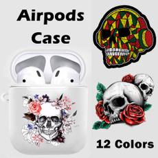 case, airpodscover, Earphone, skull