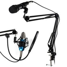 Microphone, boommicstand, studiobroadcast, audioequipment